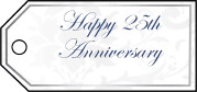 Twenty-Fifth Anniversary Gift Tags