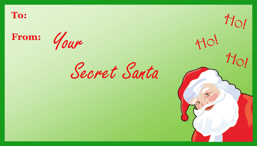 picture relating to Printable Santa Gift Tags known as Mystery Santa Present Tag Printable Present Tag
